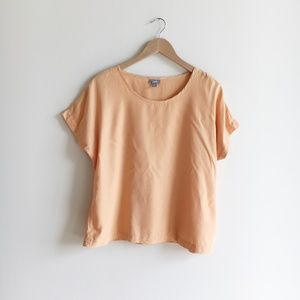 J.Jill Orange Batwing Blouse Top